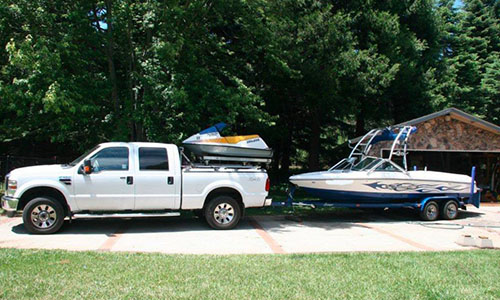 driveway boat storage