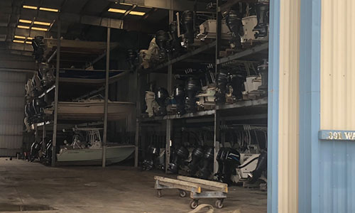 indoor rack storage boat motel