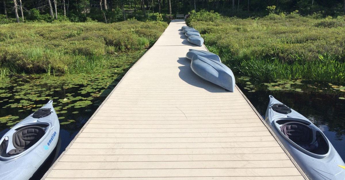 kayak dock storage options