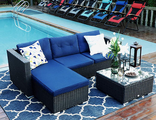 cheap pool sectional outdoor furniture set