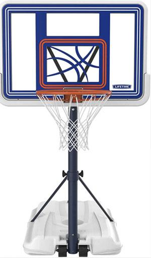 fiberglass backboard pool basketball hoop
