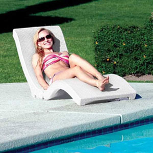 pool chaise lounge floating