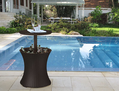side table for swimming pool