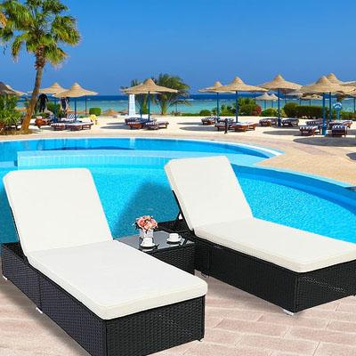 waterproof pool chaise lounge wicker