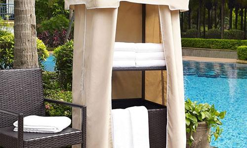 hot tub towel storage