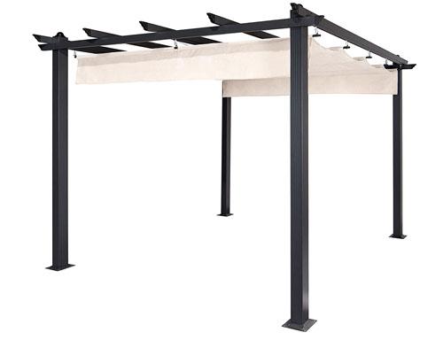 9' x 9' Aleko pergola with retractable canopy