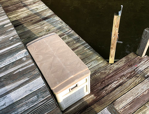 boat dock box