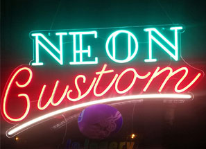 custom neon beach sign