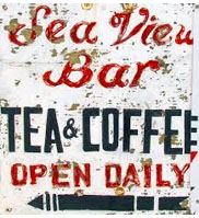 old vintage beach sign