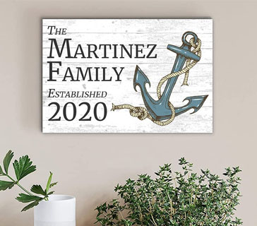personalized beach house anchor sign