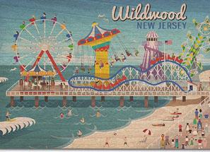 wildwood nj vintage beach sign