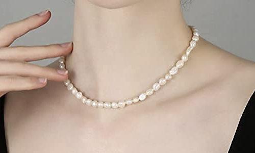 Baroque pearl choker for beach