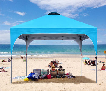 Easy-to-set-up Coolshade popup canopy tent