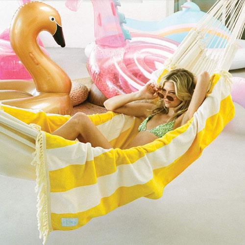 FUNBOY cute yellow beach towel