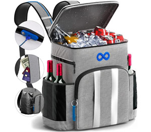 Insulated beach cooler backpack
