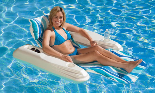 Poolmaster floating chaise lounge chair