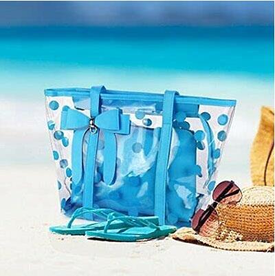 cute clear beach bag PVC plastic