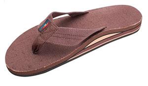 Men's brown hemp Rainbow sandals