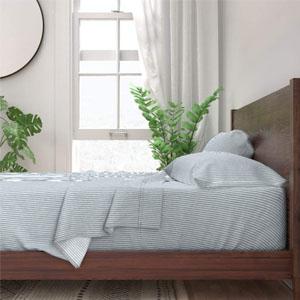 Pinstripe Italian cotton sheet set